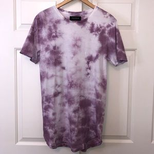 PacSun Purple Tie Die Tee sz Small